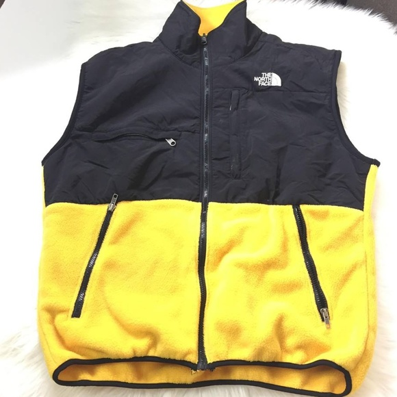 d53a35161 The North Face Denali Polartec Fleece Yellow Vest